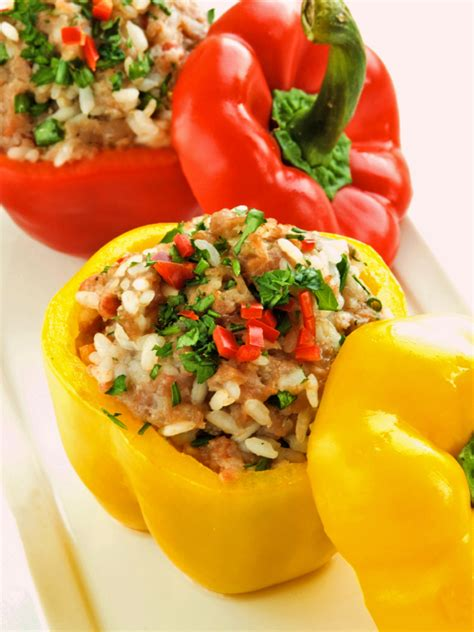 stuffed peppers with moroccan rice pilaf the heritage cook