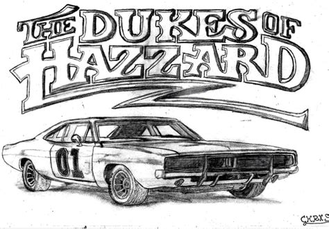 Dukes Of Hazzard General Lee Car Coloring Pages Sketch General Car Coloring Pages