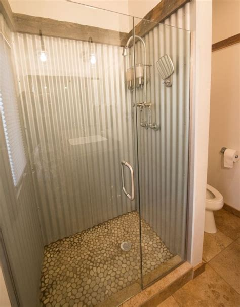 Using Corrugated Metal For Shower Walls by 25 Best Ideas About Rustic Shower On