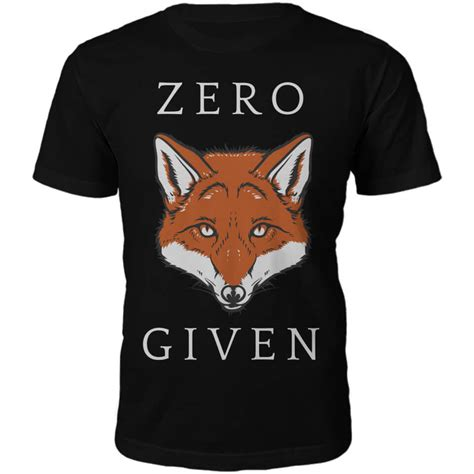 Zero Fox Given Shirt T Shirt zero fox given slogan t shirt black pop in a box us