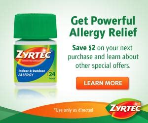 printable zyrtec coupon zyrtec money maker at cvs