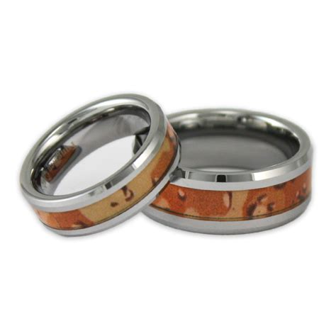 his and hers desert camo tungsten ring set camouflage