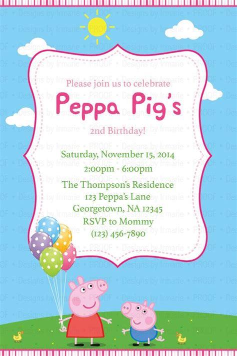 peppa pig invitations template peppa pig birthday invitation 1 peppa pig birthday