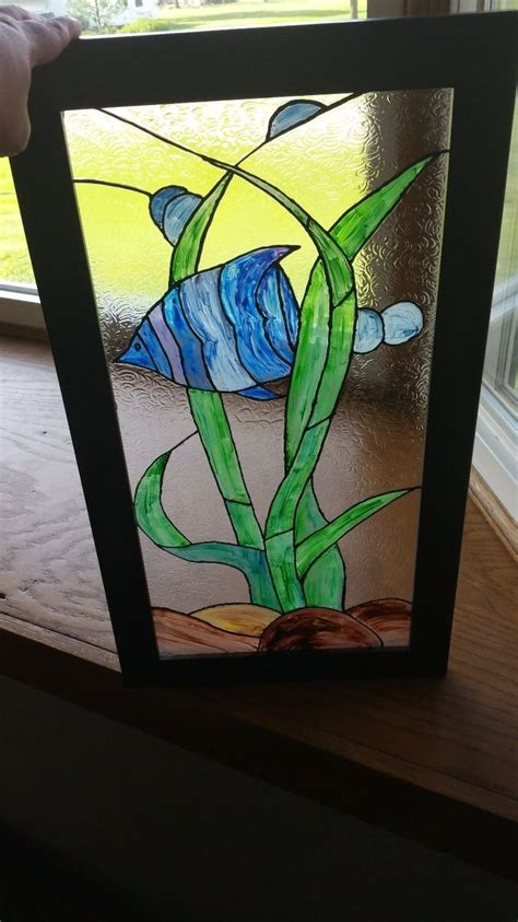 Hometalk   Faux Stained Glass With Unicorn SPiT and Old