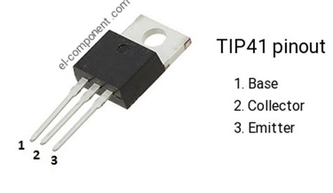 spesifikasi transistor tip 41 tip41 n p n transistor complementary pnp replacement pinout pin configuration substitute