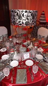 red decor 9 best images about red black n white party decor on