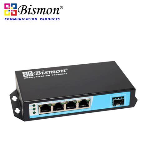 4 port gigabit poe switch 2 sfp slot fiber bismon