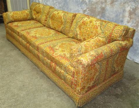 60s couch retro fabric davenport couch sofa vintage 60s 70s danish