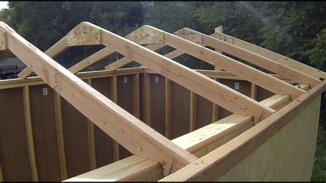 how to build a gable roof how to build a shed building installing roof rafters