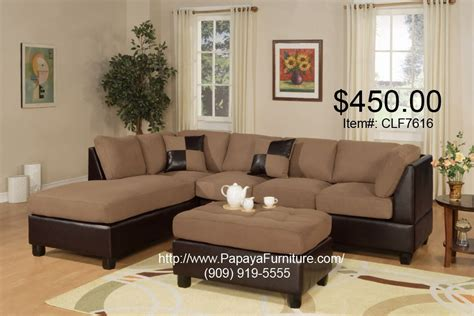 brown and tan sectional couch tan brown microfiber fabric sectional sofa with reversible