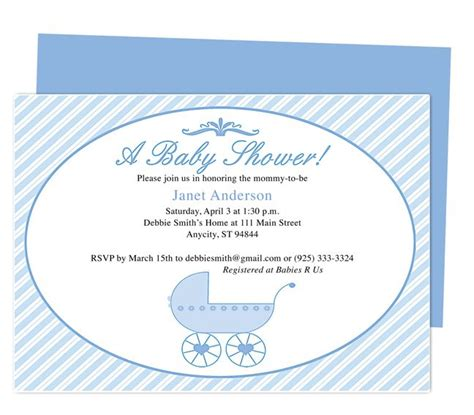 publisher templates for baby shower 42 best baby shower invitation templates images on pinterest