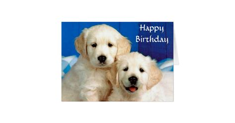 golden retriever birthday cards happy birthday golden retriever puppies card zazzle