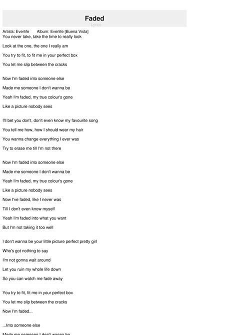 alan walker faded lyrics fade alan walker sientalyric