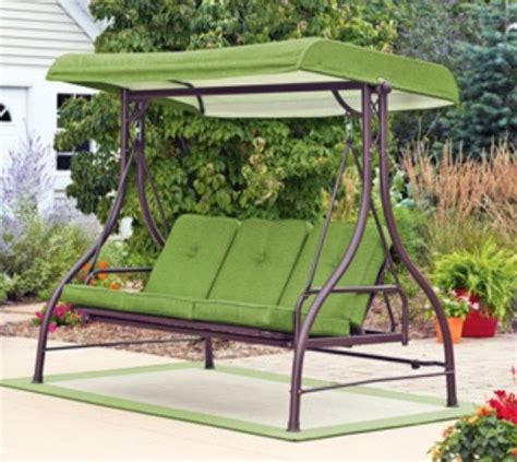 covered patio swing covered 3 person swing hammock outdoor glider new ebay