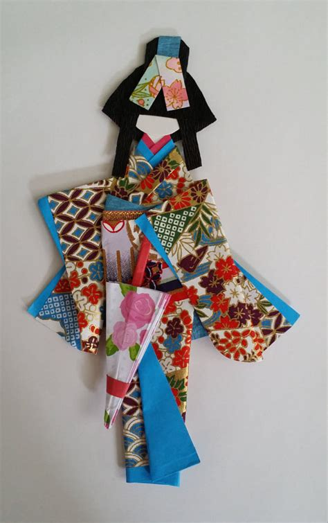 origami washi ningyo traditional japanese kimono by