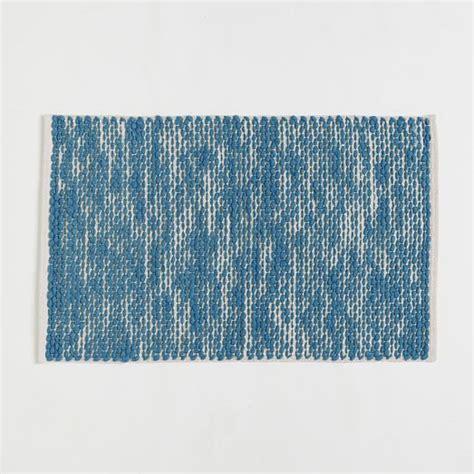 cotton wool rugs painter s cotton wool rug aquamarine west elm