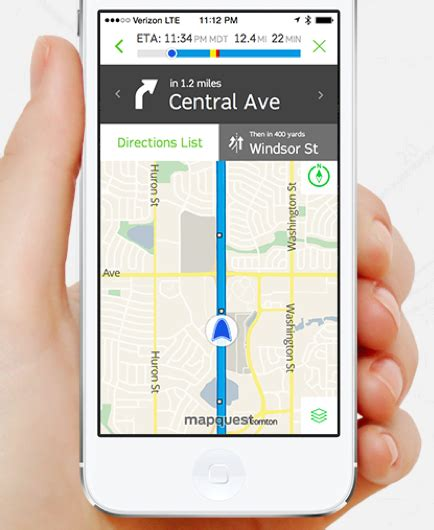 mobile mapquest mapquest bids for regained relevance with custom brand