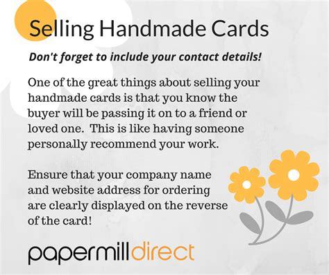 Selling Handmade Cards - selling handmade cards don t forget to add your contact