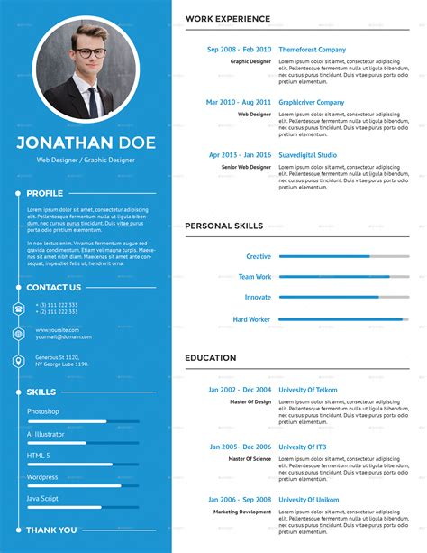 Free Creative Resume by Clean Creative Resume By Suavedigital Graphicriver