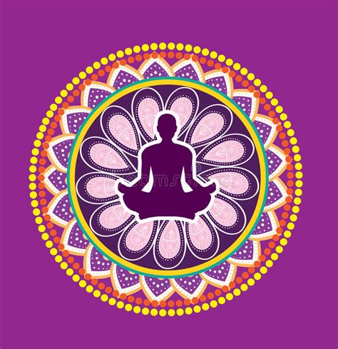 posizione fiore di loto posizione loto di illustrazione vettoriale