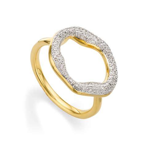 vinader riva circle ring in metallic lyst