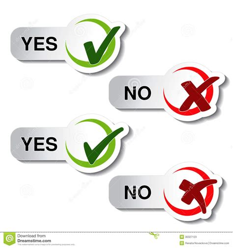 Free Background Check No Sign Up Yes No Button Check Symbol Stock Vector
