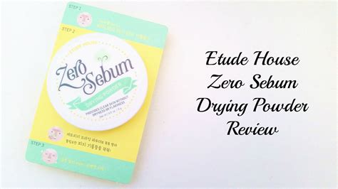 Etude No Sebum etude house zero sebum drying powder review dreams to