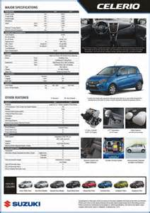 Suzuki Celerio 2012 Specifications Suzuki Philippines Brings A With All New 2015 Celerio