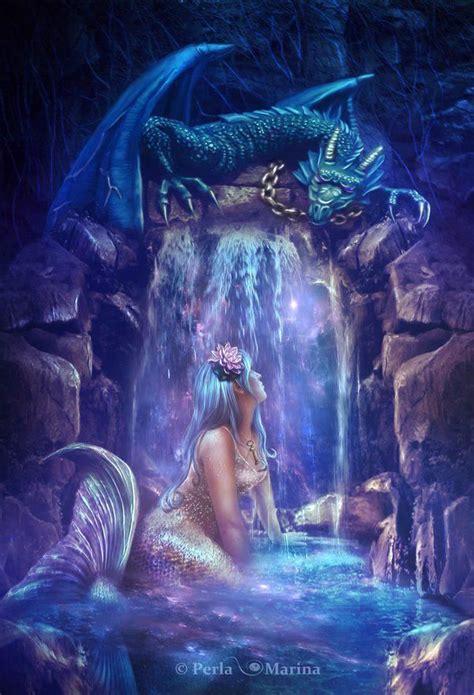 water dragons  mermaids share  ocean