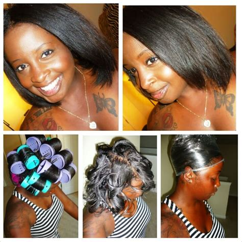 cool hairstyles from rollers for black women 19 best images about roller wraps on pinterest bobs
