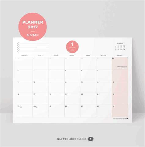 Calendario Organizador 2017 Para Imprimir 11 Calend 225 Rios 2017 Para Baixar Imprimir Gr 225 Tis E Se