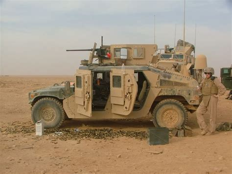 Hummer Husky Army u s army m1114 up armored hmmwv with m2 combat vehicles