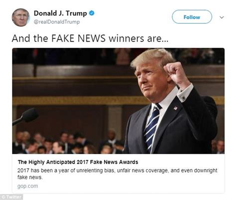 And In Hoax News by Names The Winners Of His News Awards