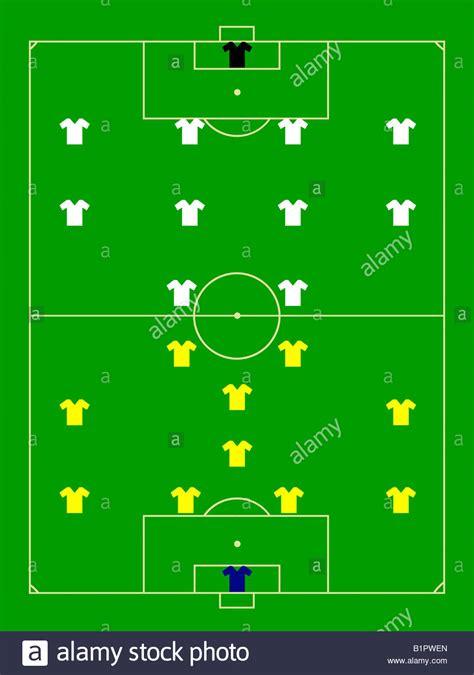 field pattern en francais football field pattern with players scheme stock photo