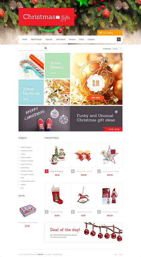 website templates for gift shop 9 christmas ecommerce website themes free website templates