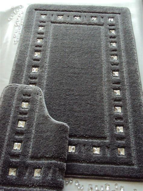 bath mat set diamante silver grey bath mat bath and gray