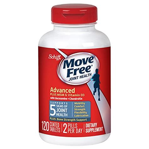 move free advanced plus msm and vitamin d3 120 tablets joint health supplement with