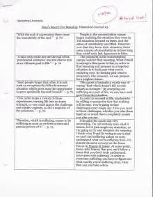 dialectical journal template dialectical journal exle images