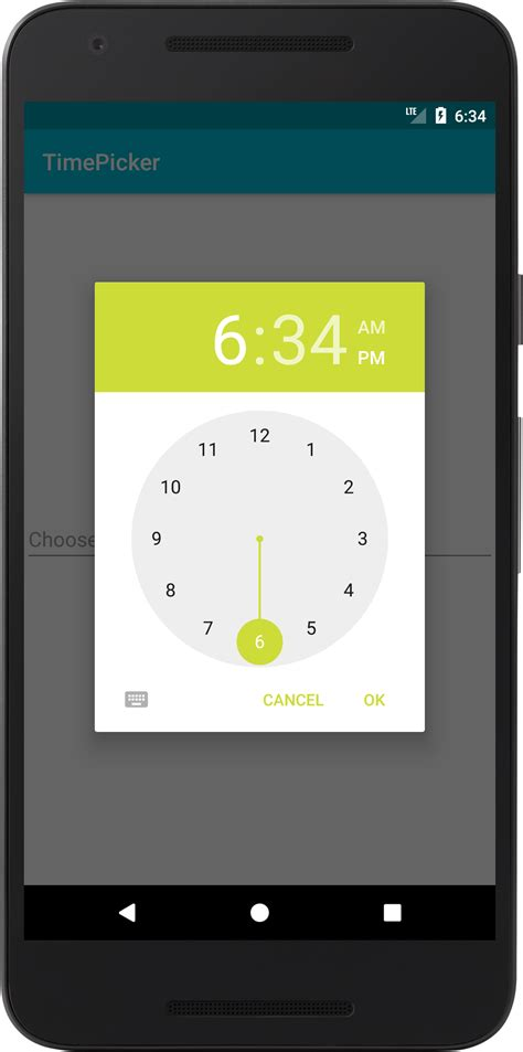 android timepicker codingdemos android beginner tutorials