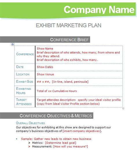 Corporate Marketing Plan Template by Unique Corporate Marketing Plan Template Component
