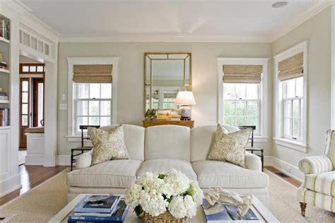 Nantucket Living Room by Light Jhaki Paint Colors Cottage Living Room