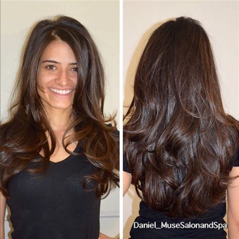 layered vs shingled hair lots of movement in thick hair i created a long layered