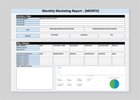 how to build a marketing report quickly free template