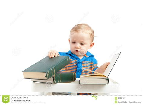 books with pictures of babies baby with books royalty free stock photography image