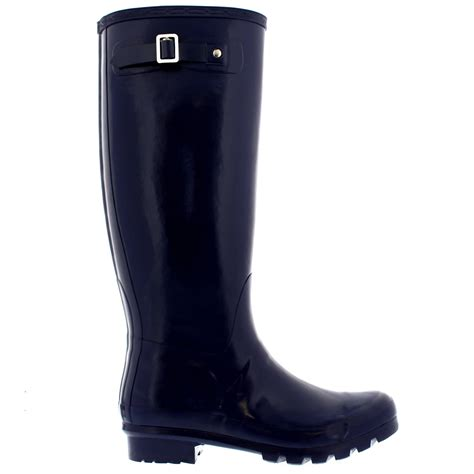 womens 100 rubber gloss waterproof knee high