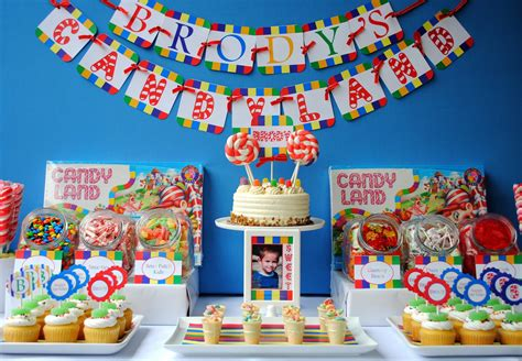 printable birthday theme ideas candyland birthday printable personalized banner