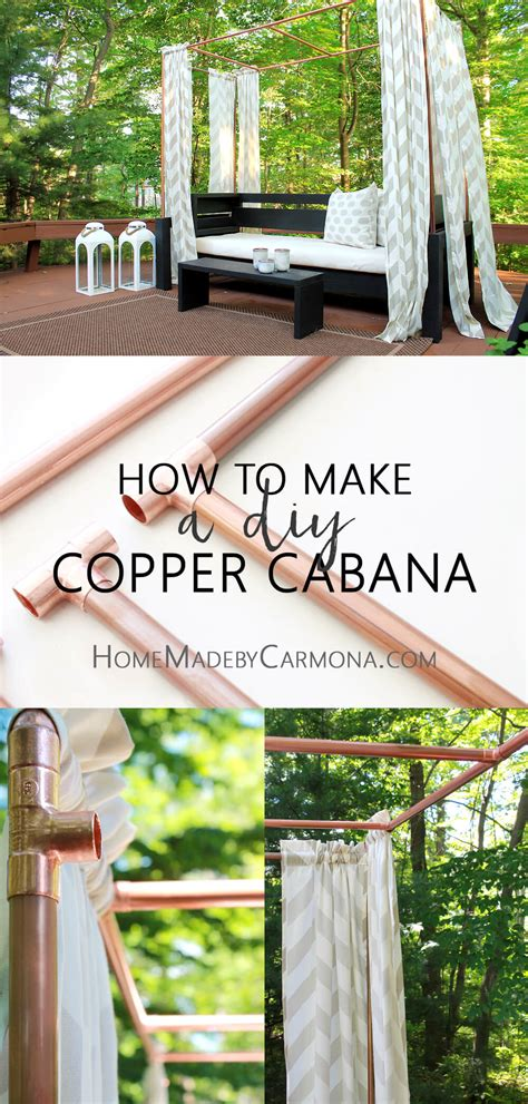 how to build a cabana diy copper cabana home made by carmona