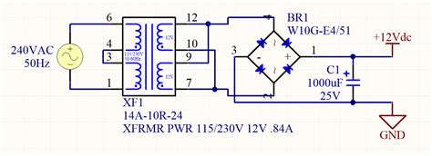 12vdc to 12vac converter circuit diagram diodes mbedded