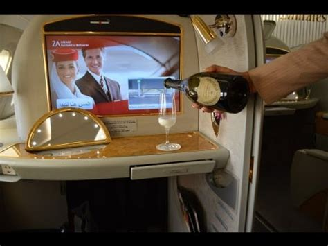 emirates youtube first class emirates first class on the a380 auckland to melbourne