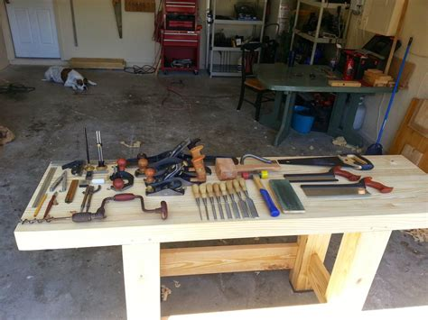 woodworking with only tools my workbench build tools only by timmy2hands